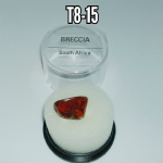 Breccia  natural mineral/gemstone specimen in display box